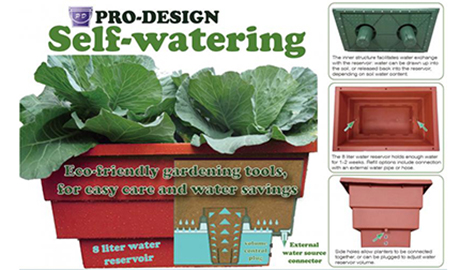 PRO DESIGN GROUP self-watering planters