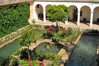 Generalife gardens of Granada